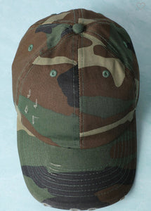 Worn Out Baseball Hat-Camouflage