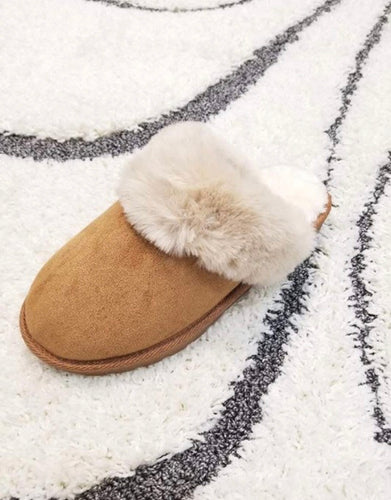 Tan Faux Fur Slippers