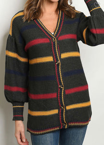 Pop Your Bubble Cardigan-(Small to Large)
