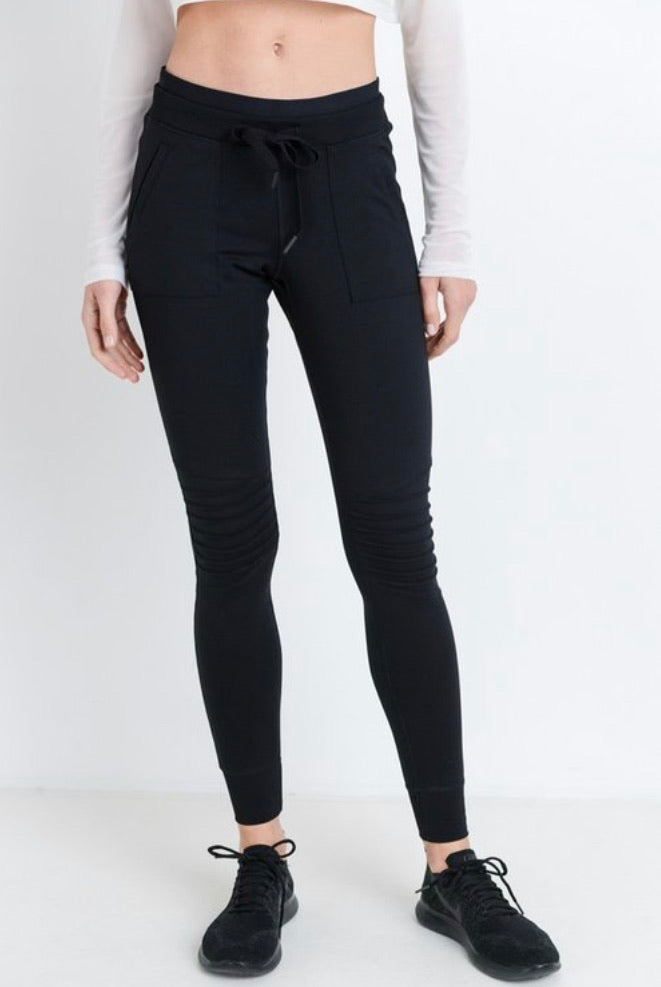 Mono B Black Jogger Leggings-Small to Large