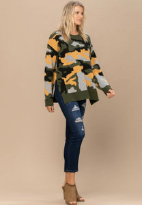 Digital Camouflage Sweater-ALL SIZES