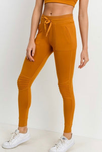 Mono B Amber Gold Jogger Leggings-Small to Large