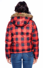 Load image into Gallery viewer, Buffalo Plaid Puffer Jacket-Small to XL