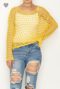Yellow Knit Top