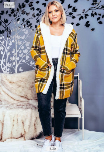 Perfectionist Plaid Jacket-Mustard(ALL SIZES)