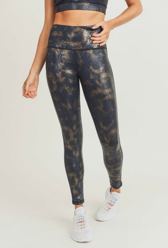 Be Bold Be Fierce Gold Foil Mono B Leggings-(ALL SIZES)