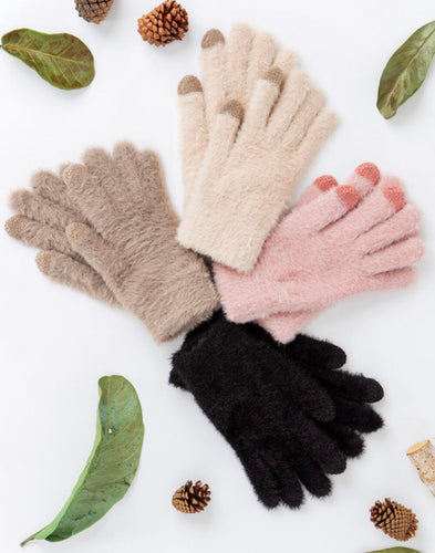 Faux Fur With Touch Screen Finger