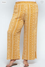 Load image into Gallery viewer, Mustard Geometric Print Palazzo Pants-ALL SIZES
