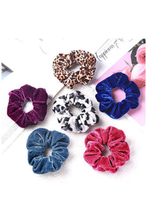 Assorted Velvet Hair Scrunchies