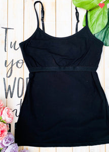 The Perfect Bra Shelf Cami-Black (ALL SIZES)