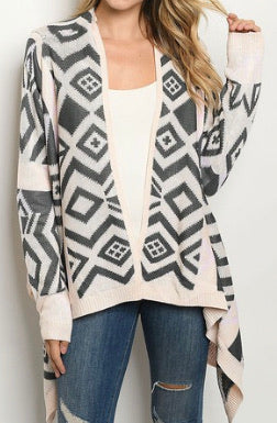 Carefree Aztec Cardigan-Small to Large