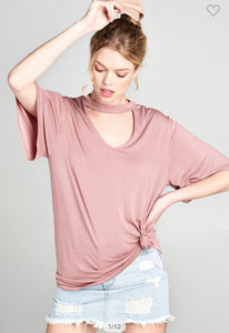 Mauve Choker Top-(Small to Large)
