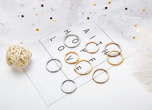 Thumbs Up Stacking Rings-Gold