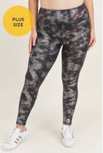 Load image into Gallery viewer, Be Bold Be Fierce Burgundy Foil Mono B Leggings-(ALL SIZES)