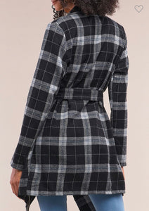Black & White Plaid Jacket