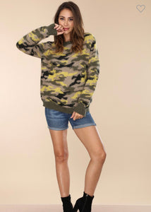Camouflage It Up Sweater-(Small to Large)