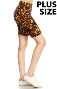 Leopard Print Biker Shorts-ALL SIZES