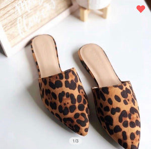 The Celia Leopard Mule
