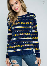 Load image into Gallery viewer, Chenille Geo Print Sweater