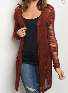 Autumn Days Cardigan-(S/M to M/L)