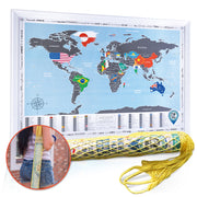 SCRATCH OFF WORLD MAP FLAGS EDITION in tube
