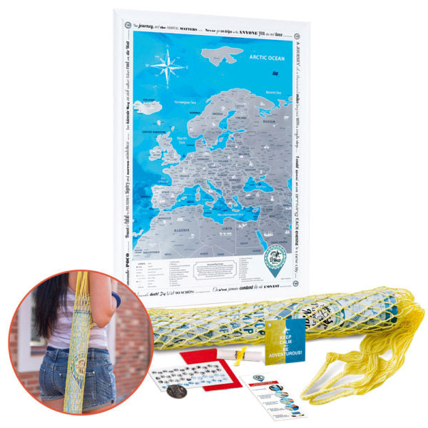 SCRATCH OFF EUROPE MAP in tube