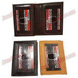 #389-B SLIM/Front Pocket, Also Known As A Vertical Wallet, 3 ID Window Slots (Including 1 Outside ID) & 8 Credit Card Slots
