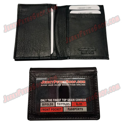 #401/3 SLIM/Front Pocket, 1 ID Window Slot, 5 Credit Card Slots & 1 Expandable Gusseted Pocket