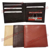 #3430 BIFOLD Leather Wallet, 1 ID Slot & 7 Credit Card Slots