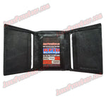 #416RF RFID Protected Leather TRIFOLD Wallet, 1 ID Slot & 6 Credit Card Slots