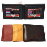 #3322 BIFOLD Leather Wallet, 2 Flip Up IDs, 10 Credit Card Slots