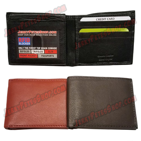 #62367 RFID Protected Leather BIFOLD Wallet, 1 FLip Up Window Slot, 12 Credit Card Slots & 2 Pockets