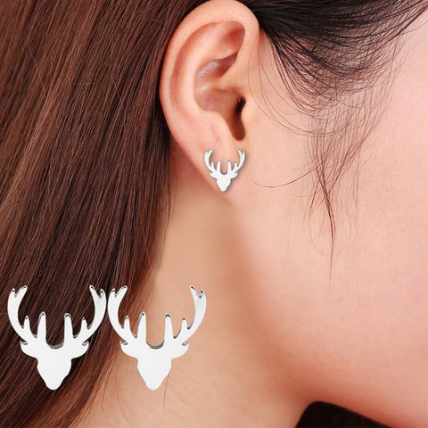 Deer Earrings, Head & Antlers