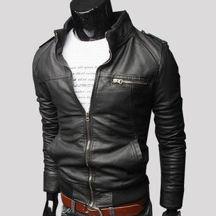 Italian~Leather Zippered Jacket~M-3XL~3 Colors
