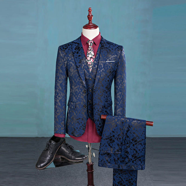 Paisley 3-Piece Suit~S-3XL~2 Colors
