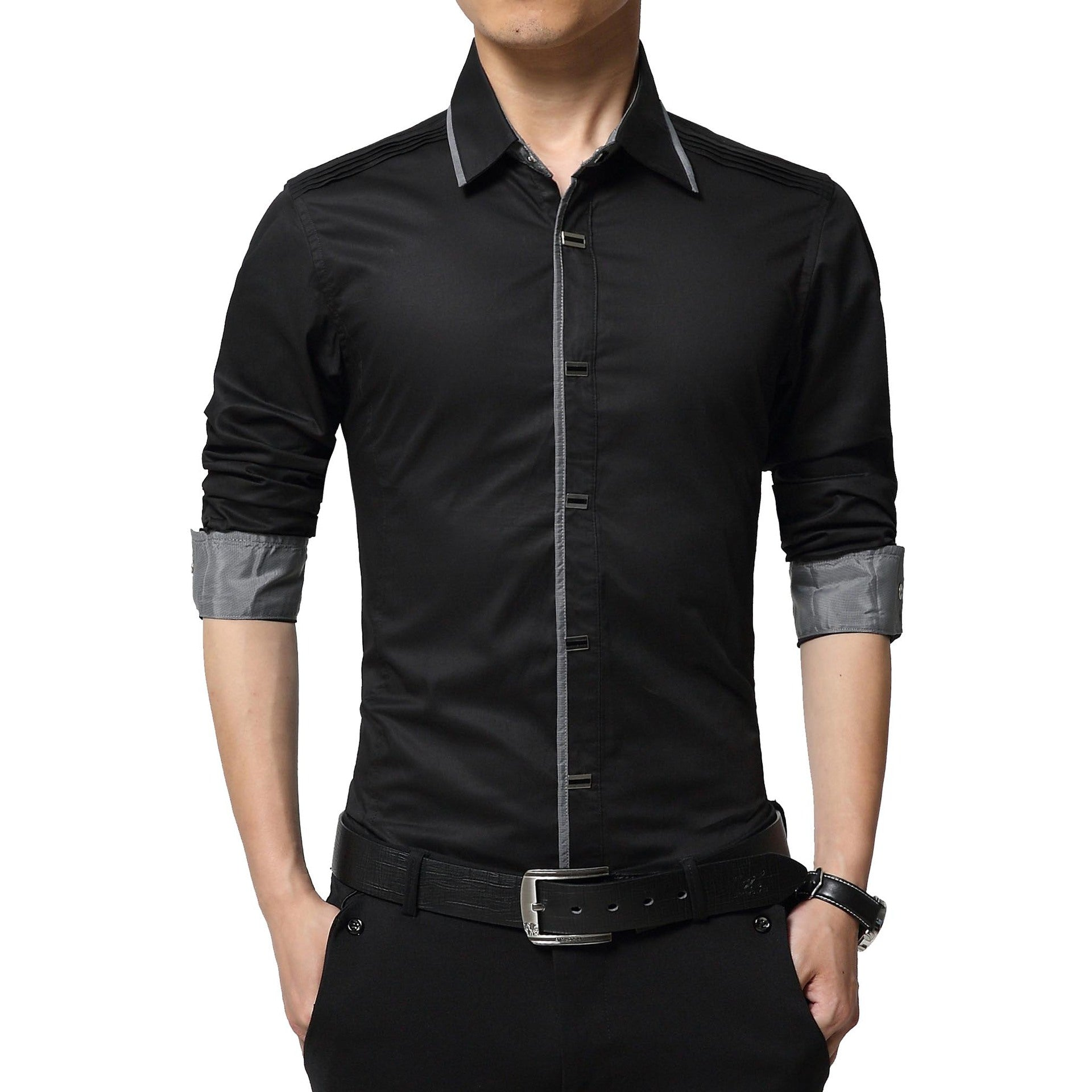 New 2017 Spring Autumn Cotton Dress Shirts High Quality Mens Casual