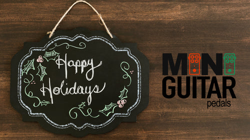 Mini Guitar Pedals Holiday Gift Card