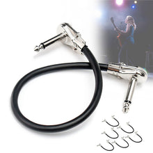 Load image into Gallery viewer, Zebra 6Pcs Audio Cable Guitar PedalBoard Patch Cords With Right Angle Plug