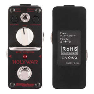 Aroma AHOR-3 HOLY WAR Mini Classic Metal Distortion Effect Pedal True Bypass