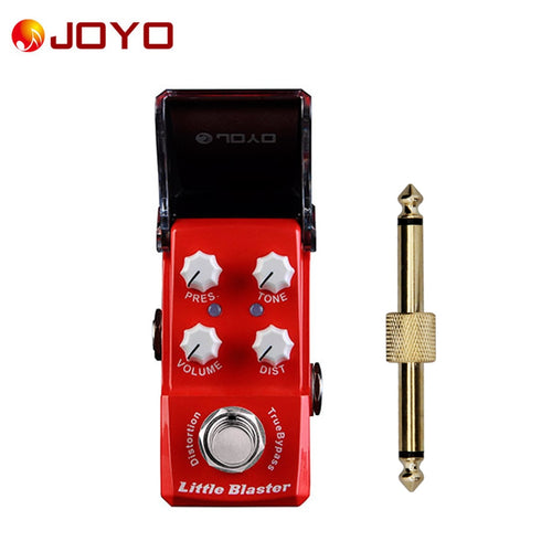New JOYO Little Blaster Ironman series Mini Distortion Pedal JF-303 + 1 pc pedal connector