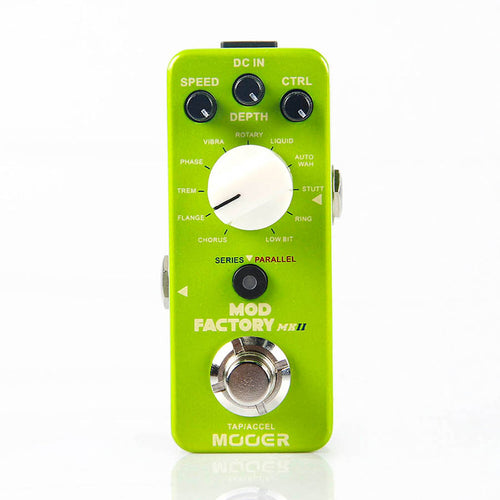 New MOOER The Mod Factory - 11 Classic Mini Modulation Guitar Effects Pedal