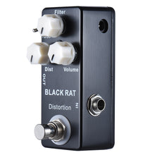 Load image into Gallery viewer, New Mosky Black Rat Mini Distortion Guitar Effect Pedal