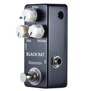 New Mosky Black Rat Mini Distortion Guitar Effect Pedal