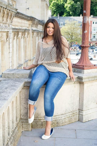 Plus size in illusion clothing