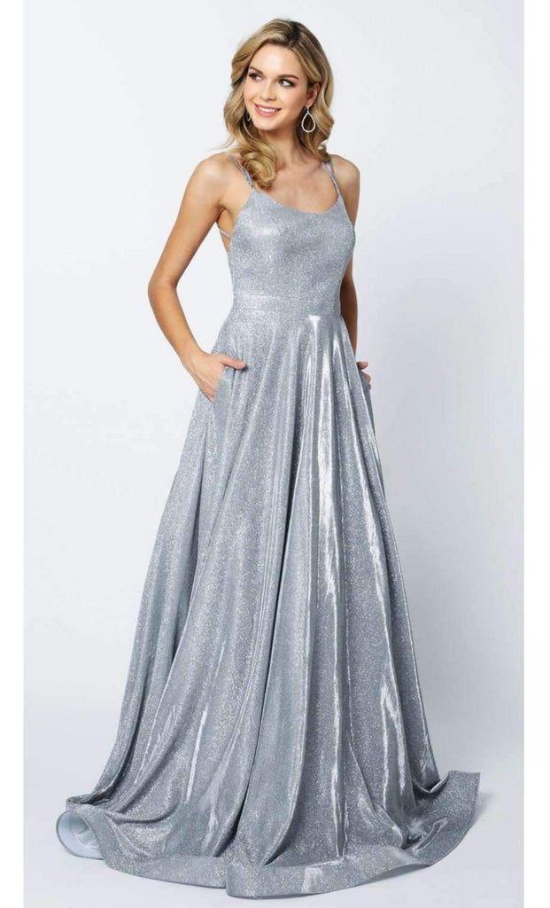 676d01c3f130 Glitter Crepe Sleeveless Long Prom Dress JT203