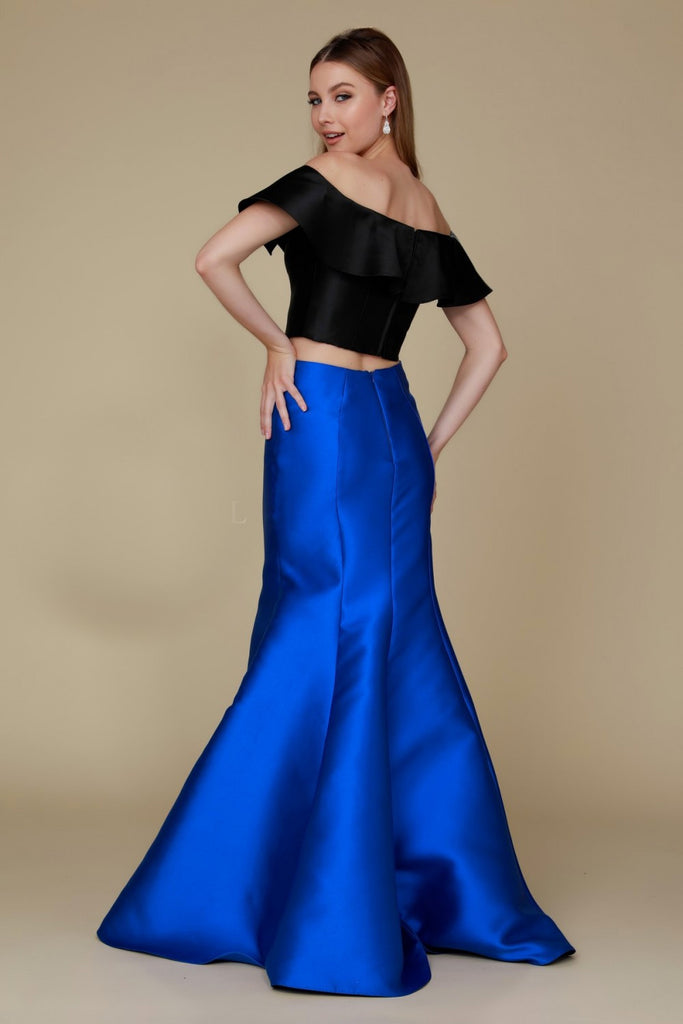 Two Piece Off Shoulder Mermaid Shape Dress NXQ129