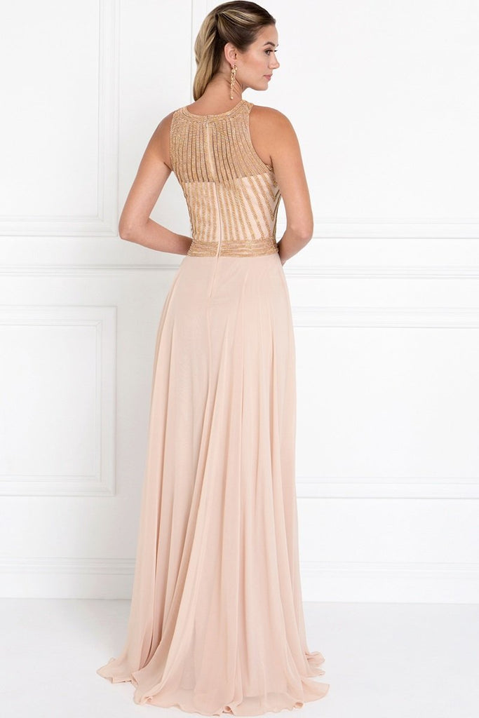 Illusion Long Prom Dresses 2018 With Illusion Back GSGL1563-Prom Dresses-smcfashion.com