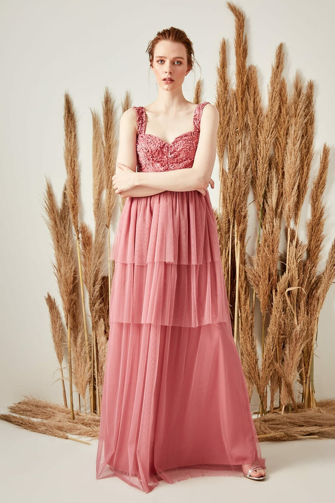 Sweetheart Neckline Cute Long Evening Dress TKTPRSS19FZ0100