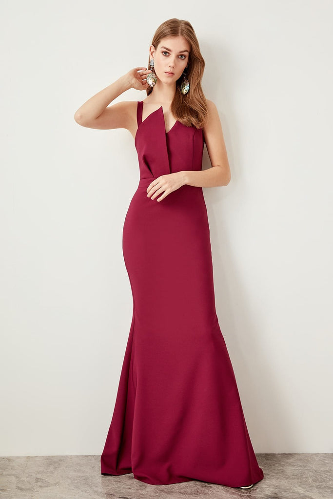 One Shoulder Neckline Mermaid Long Evening Dress TKTPRSS19BB0121