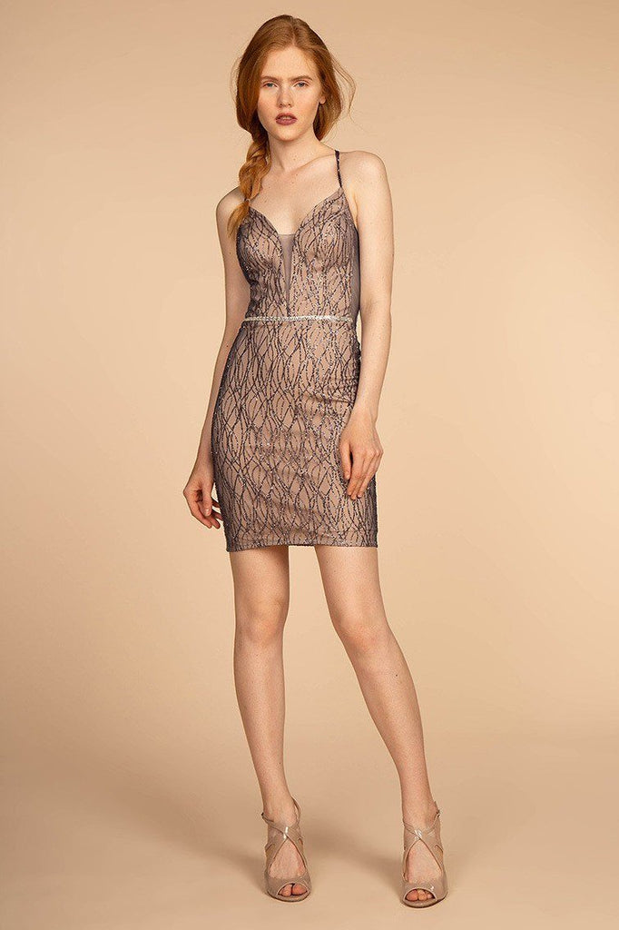 Rose Gold Affordable Cocktail Dress GSGS1634